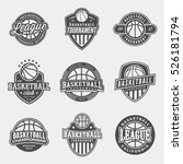 set of logos for basketball... | Shutterstock .eps vector #526181794