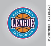 basketball league logo. modern... | Shutterstock .eps vector #526181824