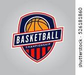 basketball championship logo.... | Shutterstock .eps vector #526181860