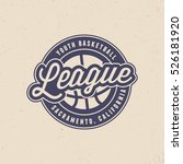 basketball league logo. modern... | Shutterstock .eps vector #526181920