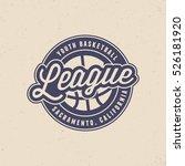 basketball league logo. modern... | Shutterstock .eps vector #526181920