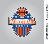 basketball tournament logo.... | Shutterstock .eps vector #526181950