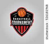 basketball tournament logo.... | Shutterstock .eps vector #526181968