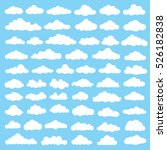 cloud icon set clean vector | Shutterstock .eps vector #526182838
