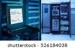 monitor show graph information... | Shutterstock . vector #526184038