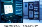 monitor show graph information...   Shutterstock . vector #526184059