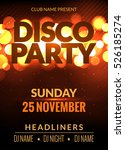 vector night party poster... | Shutterstock .eps vector #526185274