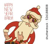 hipster santa claus with... | Shutterstock .eps vector #526188808