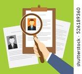 hr recruitment process with...   Shutterstock .eps vector #526189360