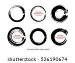 set of black grunge circle... | Shutterstock .eps vector #526190674