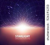 starlight  space background ... | Shutterstock .eps vector #526191253