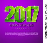 design of new year purple... | Shutterstock .eps vector #526193320