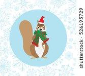 Squirrel Wearing Santa Hat On...