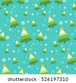 winter snowflakes and christmas ... | Shutterstock .eps vector #526197310