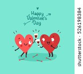 two happy hearts in love... | Shutterstock .eps vector #526198384