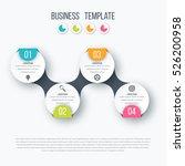 infographics timeline template... | Shutterstock .eps vector #526200958