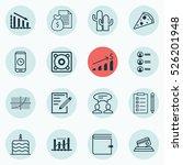 set of 16 universal editable... | Shutterstock .eps vector #526201948