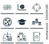 set of 9 universal editable... | Shutterstock .eps vector #526204180