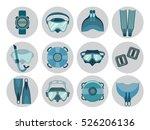set of freediving equipment... | Shutterstock .eps vector #526206136