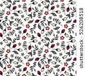 Stock vector flower seamless pattern 526208518