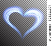 creative shiny heart shape with ... | Shutterstock .eps vector #526211374