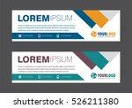 creative banner templates | Shutterstock .eps vector #526211380