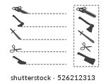 cut here symbol. scissors and... | Shutterstock .eps vector #526212313