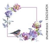 wildflower rose flower frame in ...   Shutterstock . vector #526216924