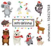 Cute Happy Animals For Merry...