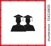 graduate icon vector... | Shutterstock .eps vector #526218820