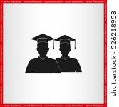 graduate icon vector... | Shutterstock .eps vector #526218958