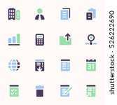 documents web icons set. office ... | Shutterstock .eps vector #526222690