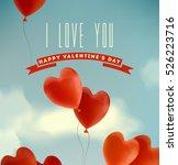 happy valentine's day... | Shutterstock .eps vector #526223716
