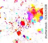 paint splashes. colorful... | Shutterstock .eps vector #526224208