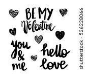 set of hand drawn valentine's... | Shutterstock .eps vector #526228066