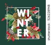 christmas design in vector.... | Shutterstock .eps vector #526228948