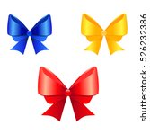 colorful ribbons and bow ties... | Shutterstock .eps vector #526232386