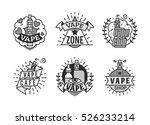 vector vaping badges  modern... | Shutterstock .eps vector #526233214