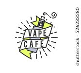 vector vaping badges  modern... | Shutterstock .eps vector #526233280