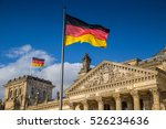 german flags waving in the wind ... | Shutterstock . vector #526234636