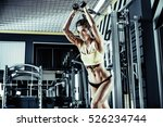 young fitness woman execute... | Shutterstock . vector #526234744