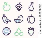 fruits mobile icons set  vector ... | Shutterstock .eps vector #526238038