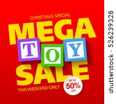 mega toy sale christmas special ... | Shutterstock .eps vector #526239328