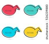 set hand drawn speech bubble.... | Shutterstock .eps vector #526239880