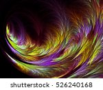 abstract fractal computer... | Shutterstock . vector #526240168