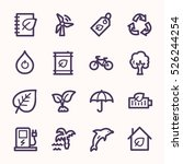Ecology Web Icons.  Green...