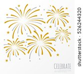 firework background  can be use ... | Shutterstock .eps vector #526244320