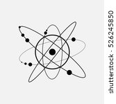 icon space  planets and orbits  ... | Shutterstock .eps vector #526245850