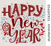 happy new year. hand drawn... | Shutterstock .eps vector #526245910