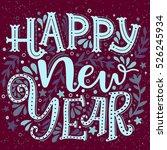 happy new year. hand drawn...   Shutterstock .eps vector #526245934